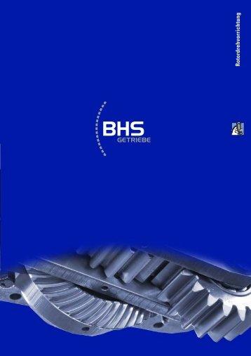 Rotordrehvorrichtung - BHS Getriebe GmbH