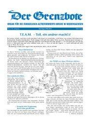 6. Mai 2012 - Die Evangelisch-altreformierte Kirche in Niedersachsen
