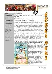 Ausgabe 01/2012 - Chorverband Otto Elben eV