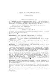 FORMES BILINÉAIRES INVARIANTES 1. Formes ... - Normalesup.org