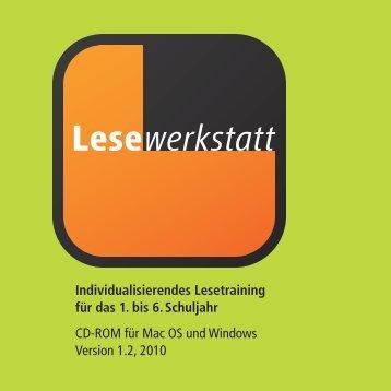 Booklet Lesewerkstatt.indd - Lehrmittelverlag Zürich