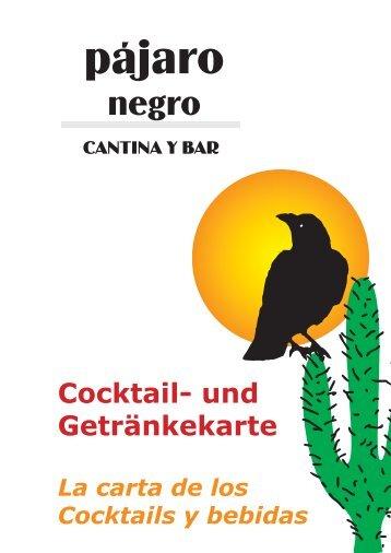 Cocktail- und Getränkekarte - Pájaro Negro