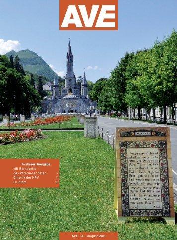 In dieser Ausgabe Mit Bernadette das Vaterunser beten 7 Chronik ...