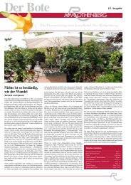 Die Hauszeitung vom Landhotel Am Rothenberg Nichts ist so ...