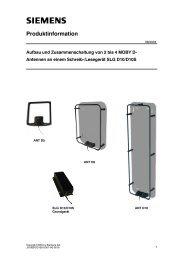 Produktinformation - Siemens