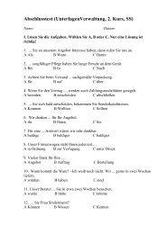 Abschlusstest (UnterlagenVerwaltung, 2. Kurs, SS)