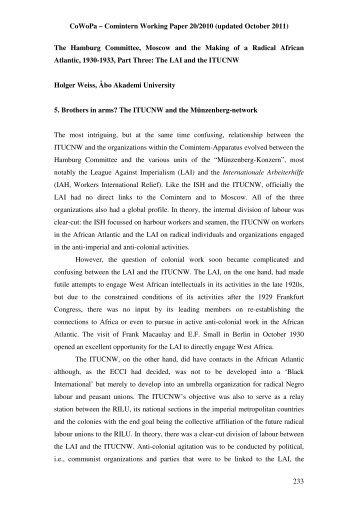 CoWoPa – Comintern Working Paper 20/2010 ... - Åbo Akademi