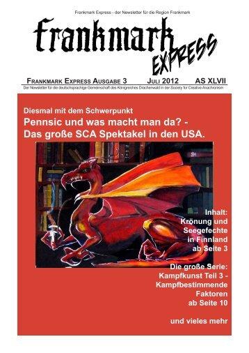 Frankmark Express Ausgabe 3, Juli 2012 - Vielburgen