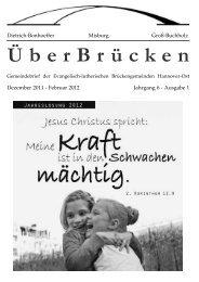 ÜberBrücken - Dietrich Bonhoeffer Gemeinde