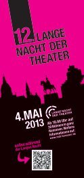Download Flyer - Lange Nacht der Theater Hannover am 04.05.2013