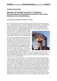 Szenarien für die Welt nach dem 11. September: Die ... - Steinmüller