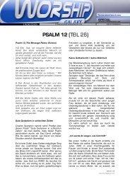 PSALM 12 (TEIL 26) - Worshipgalaxy.com