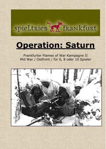 Frankfurter Kampagnenregeln Operation Saturn 1942 Regeln