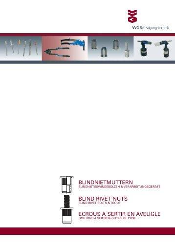 BLINDNIETMUTTERN BLIND RIVET NUTS ECROUS A SERTIR EN AVEUGLE