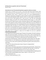 Die Deportationen ungarischer Juden nach Theresienstadt