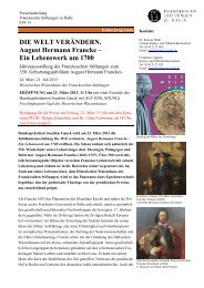 DIE WELT VERÄNDERN. August Hermann Francke - Franckesche ...