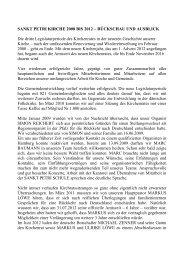 SANKT PETRI KIRCHE 2008 BIS 2012 – RÜCKSCHAU UND ...