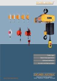 Federzüge Katalog hier downloaden - Kromer-Balancer