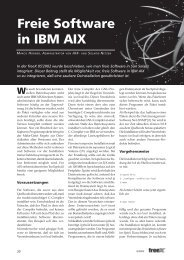 Freie Software in IBM AIX