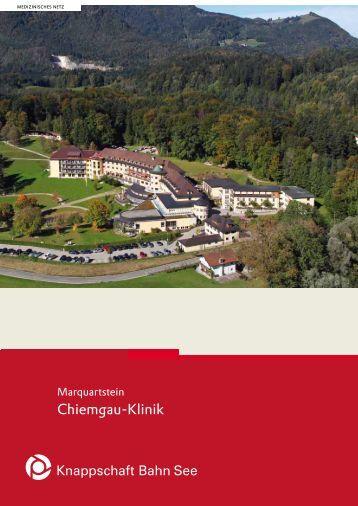 Broschüre: Marquartstein Chiemgau-Klinik - Knappschaft-Bahn-See