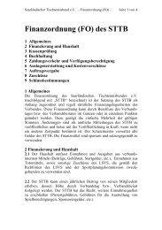 Finanzordnung (FO) des STTB
