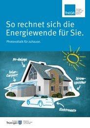 So rechnet sich die Energiewende für Sie. - ThEGA