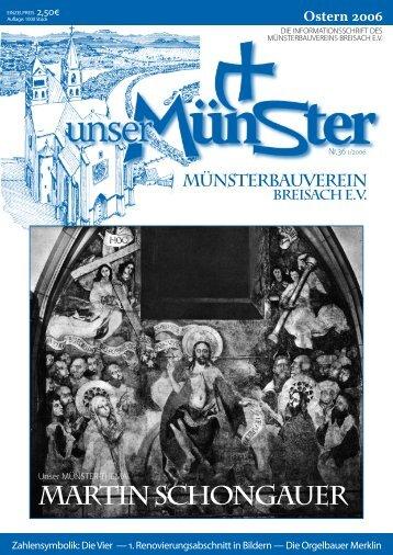 MARTIN SCHONGAUER - Unser Münster