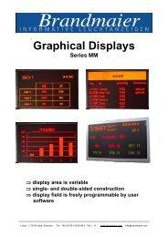 Graphical Displays - Brandmaier · Informative Leuchtanzeigen