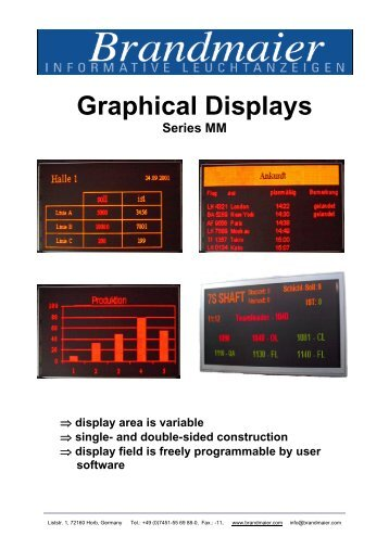 Graphical Displays - Brandmaier · Informative Leuchtanzeigen
