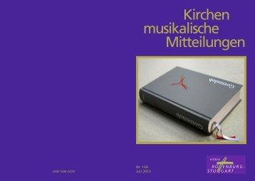 Kirchen musikalische Mitteilungen - Amt für Kirchenmusik - Startseite