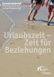 Urlaubszeit – Zeit für Beziehungen - Bethesdagemeinde.de