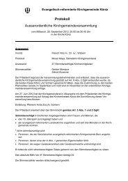 Protokoll der ao. KGV vom 26. September 2012 - Kirchgemeinde ...