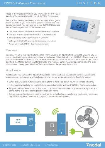 INSTEON Wireless Thermostat - Nodal Australia
