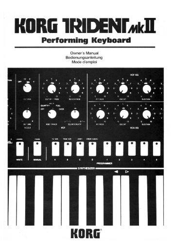 Korg Trident MKII Owner's Manual - Fdiskc
