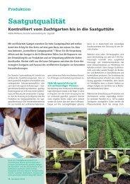 Saatgutqualität - DSV