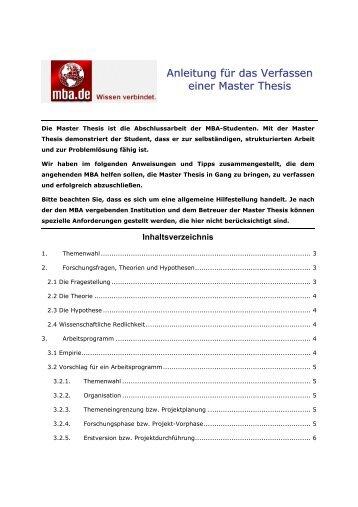 deckblatt master thesis uni wuppertal