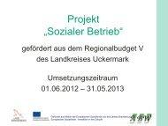 Sozialer Betrieb - LASA Brandenburg GmbH