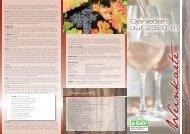 Weinkarte auf der Heilbronner Hütte - DAV Sektion Heilbronn