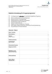 Anmeldeformular für Gruppenprogramme - Psychiatrische ...