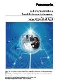 Panasonic KX-TDE 100/200/600