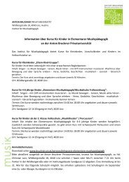 Information Lehrpraxis Elementare Musikpädagogik