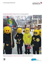 Jahresrechnung 2012 Amtsbericht 2012 und Voranschlag 2013 der ...