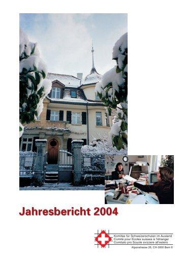 Jahresbericht 2004 - educationsuisse