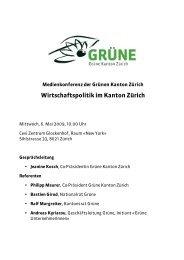 Medienmappe - Grüne Kanton Zürich