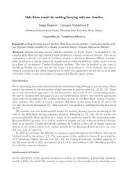 Hele-Shaw model for melting/freezing with two dendrits Sergei ...