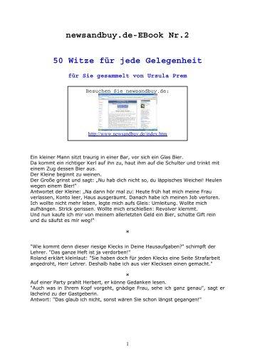 Newsandbuy.de-EBook Nr.2 50 Witze Für Jede Gelegenheit