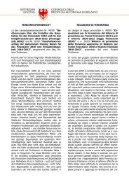 Minderheitenbericht - Südtiroler Landtag