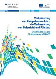 Verbesserung von Kompetenzen durch die ... - Cedefop - Europa