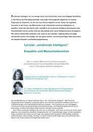 Lernziel ,,emotionale Intelligenz
