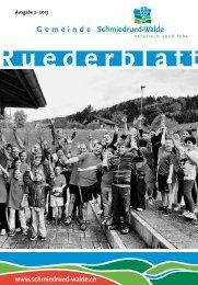 Ruederblatt – 2. Ausgabe 2013 im Juni - Schmiedrued-Walde
